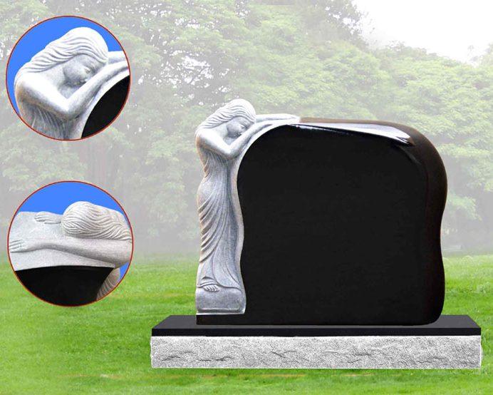 EG-934 / Jet Black / Draped Weeping Statue on Molded Die