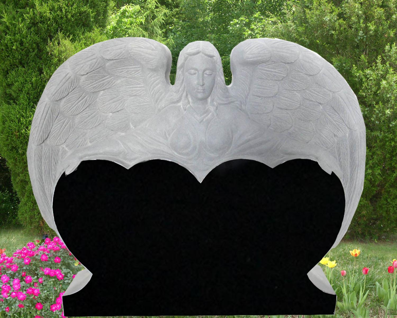 EG-13-108-907-67 / Jet Black / Angel Hugging Double Heart