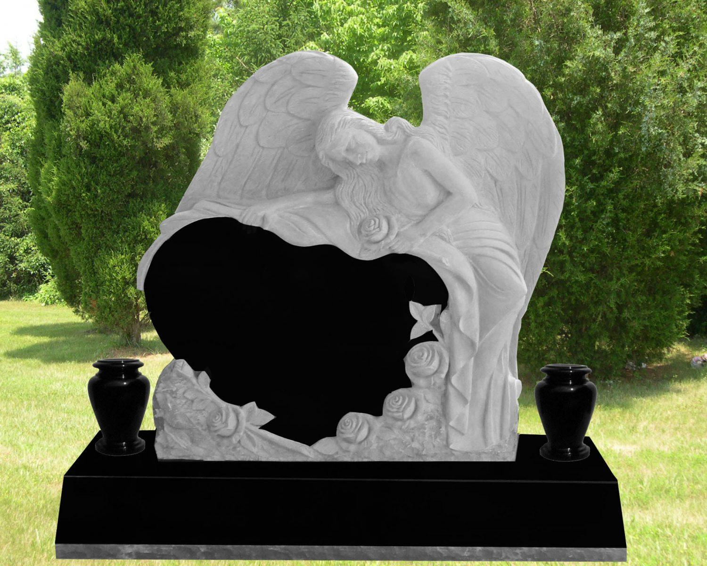 EG-13-166-908 / Jet Black / Angel over Heart with Roses