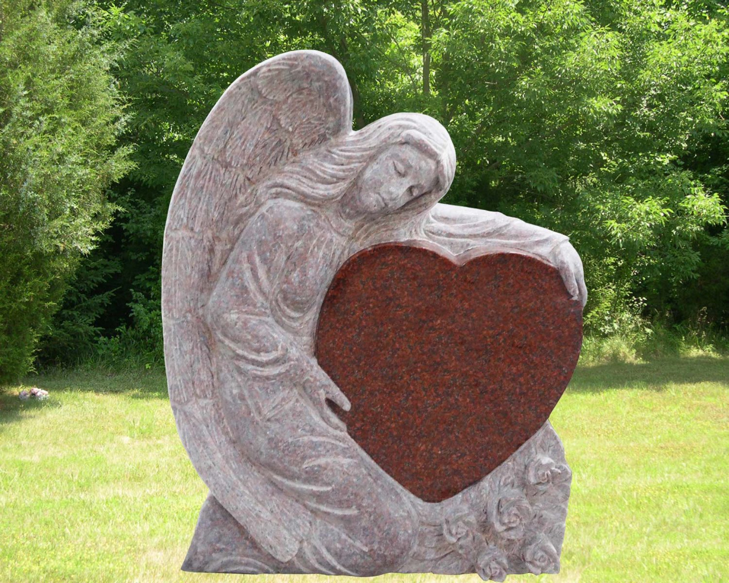 EG-13-225-908 / India Red / Kneeling Angel with Single Heart