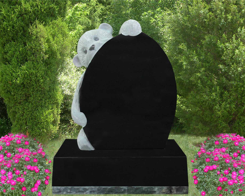 EG-13-32-906-19 / Jet Black / Peeping Teddy Bear Memorial