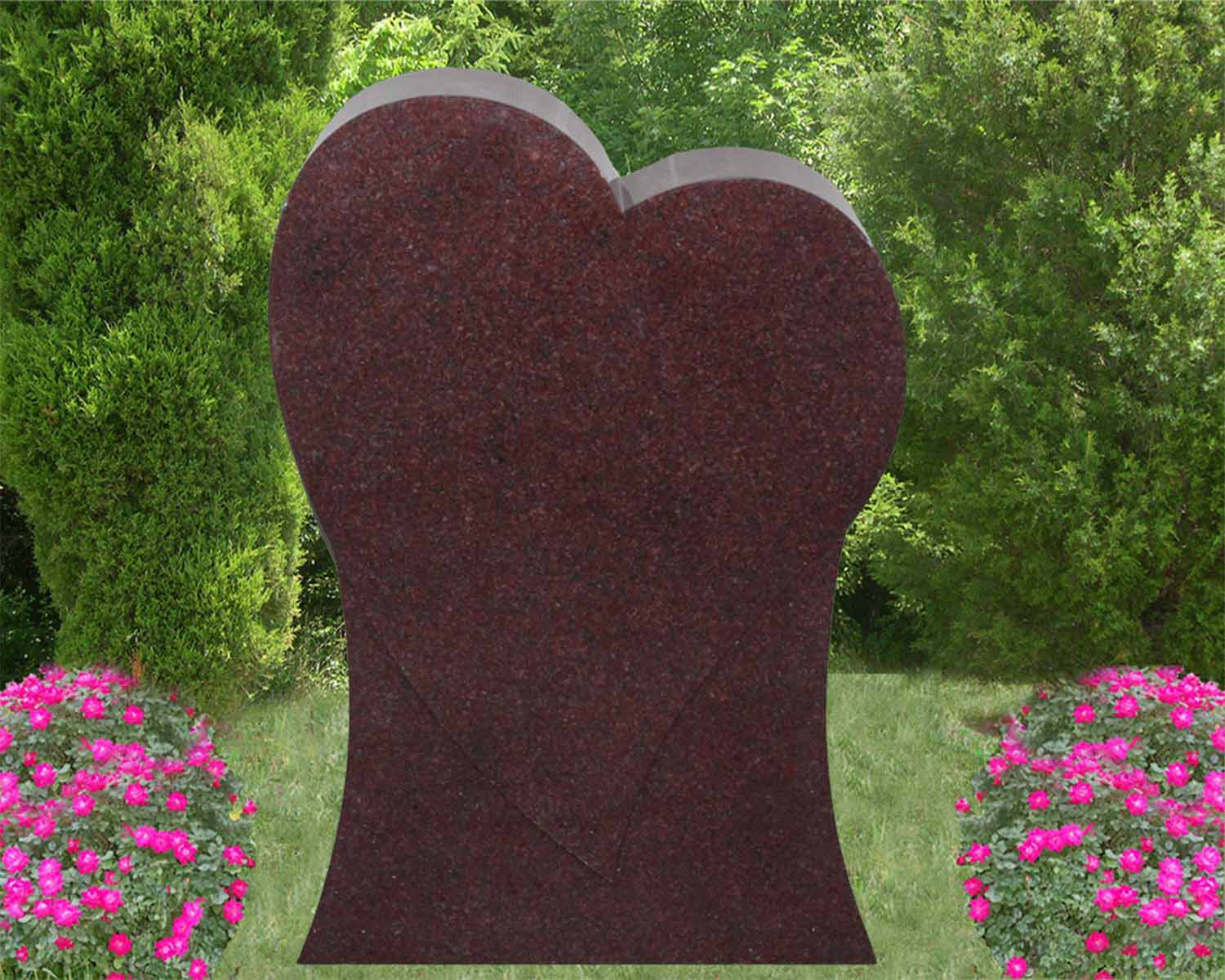 EG-13-83-387-63 / India Red / Tilted Raised Single Heart