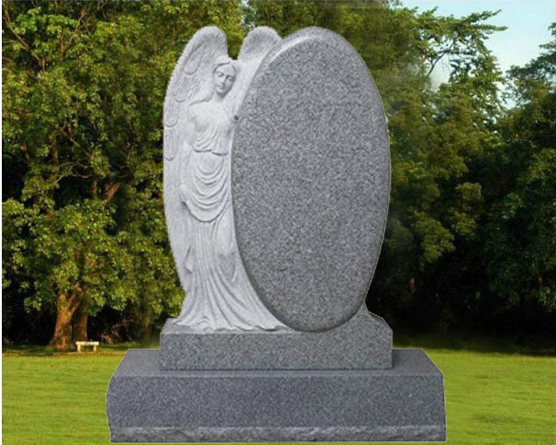 EG-13-94-08-27 / Fine Gray / Leaning Angel beside Oval Die