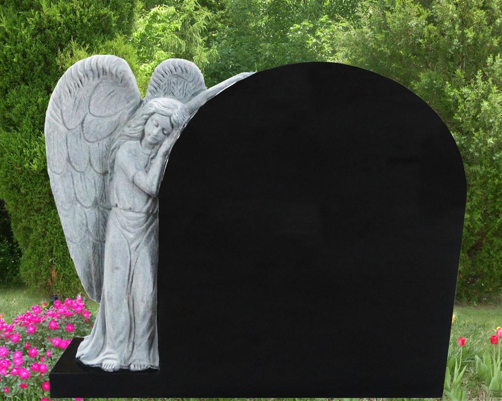 EG-14-128-909 / Jet Black / Leaning Angel beside Oval Die