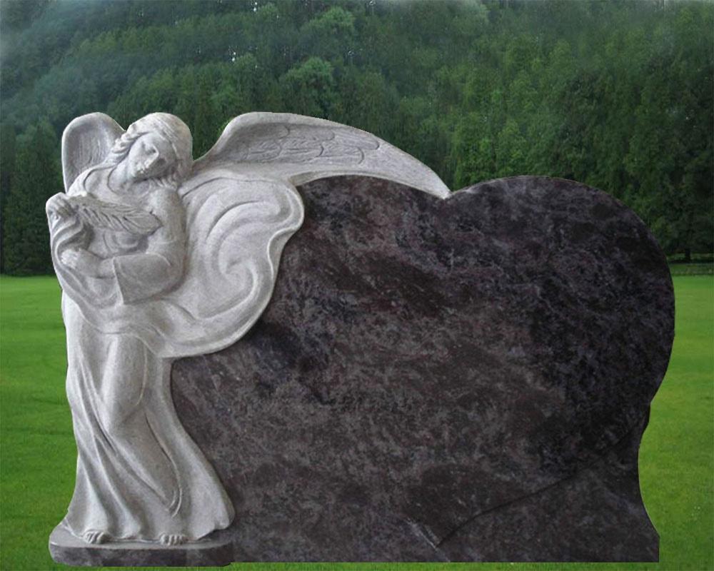 EG-14-134 / Bahama Blue / Standing Angel beside Single Heart