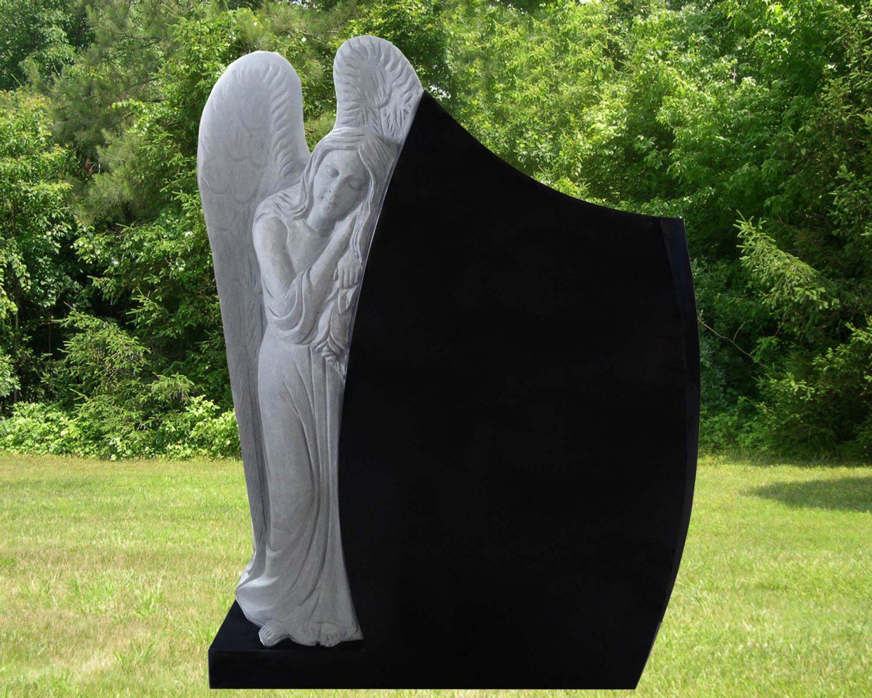 EG-14-73-909-62 / Leaning Angel beside Teardrop like / Jet Black