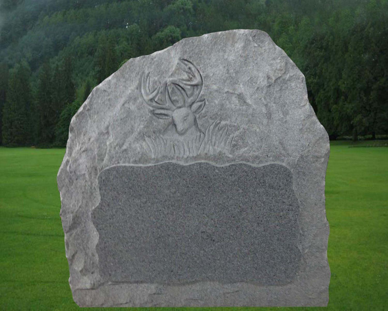 EG-15-12-911 / Fine Gray / Shelled Rock with Deer Head