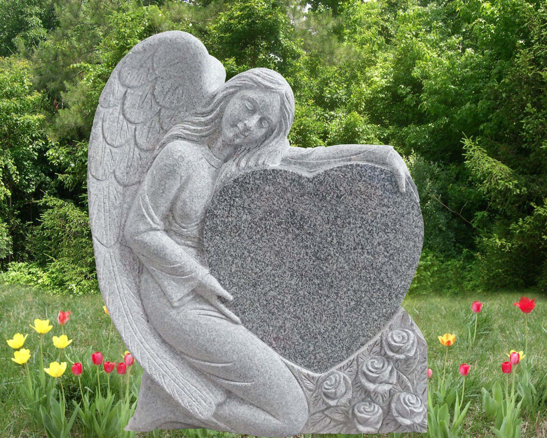 EG-15-130-914 / Imperial Gray / Kneeling Angel with Single Heart