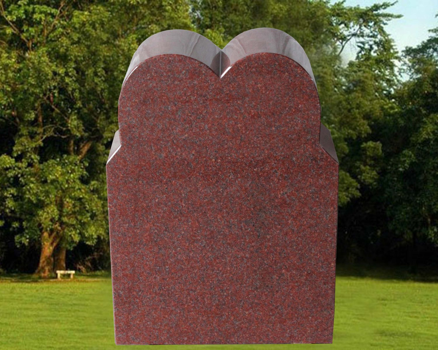 EG-15-245-421 / India Red / Single Heart on Top Memorial