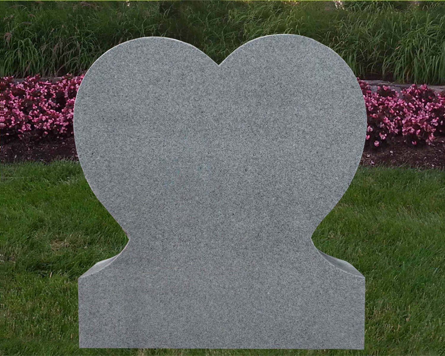 EG-15-52-912 / Fine Gray / Single Heart Memorial
