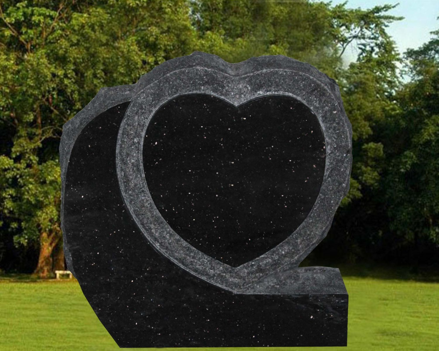 EG-16-96-424 / Black Galaxy / Single Heart with Shell Rock