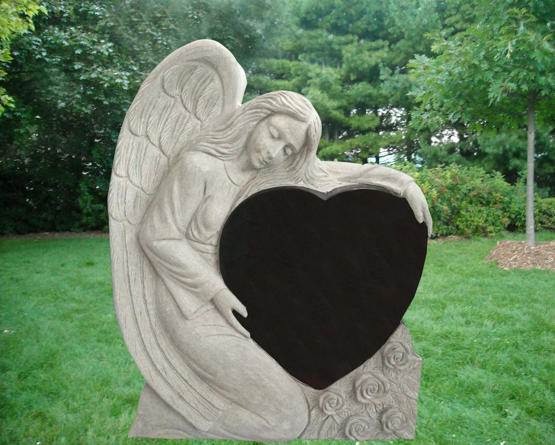 EG-17-293-922 / Jet Black / Kneeling Angel with Single Heart