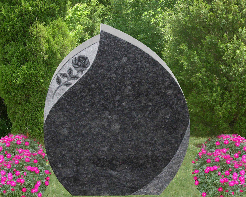 EG-17-54-434 / Daisy Blue / Teardrop with Shell Rock & Rose