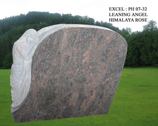 EG-07-32 / Himalaya Rose / Leaning Angel beside Oval Top