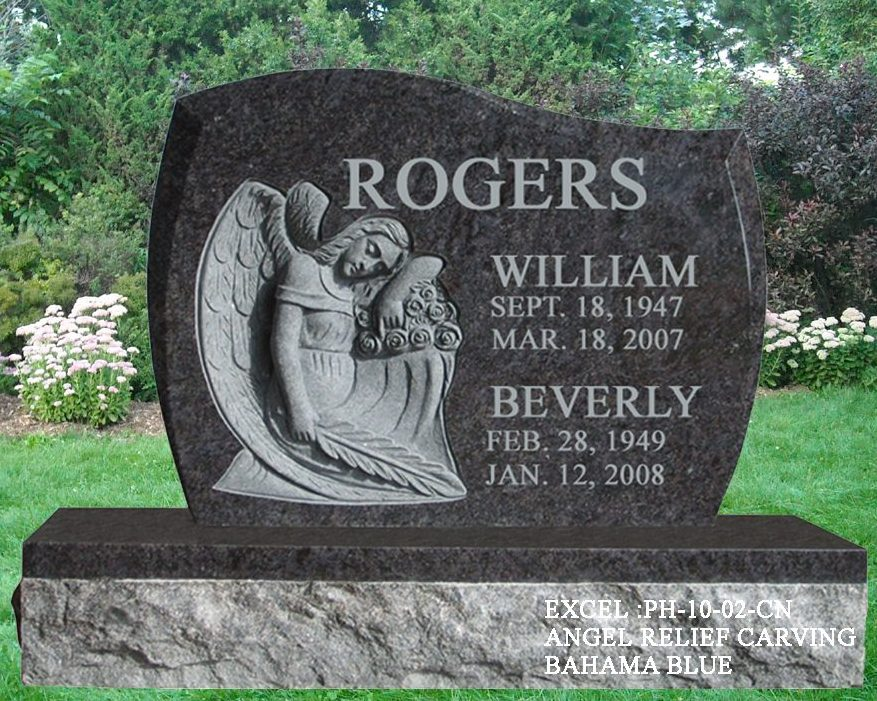 EG-10-02 / Bahama Blue / Relief Carved Angel on Anton