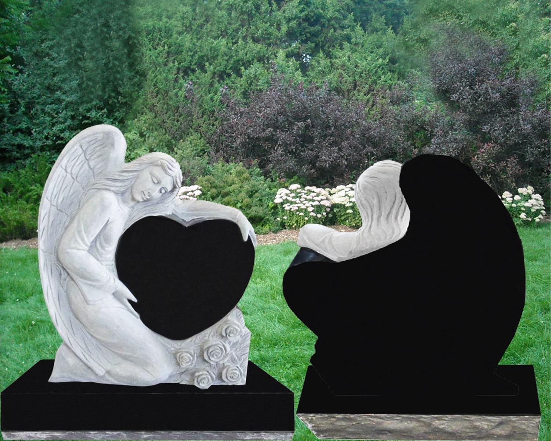 EG-12-110-904 / Jet Black / Kneeling Angel over Single Heart