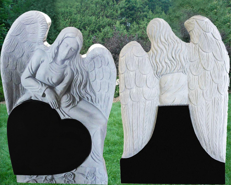 EG-12-135 / Jet Black / Angel over Tilted Heart