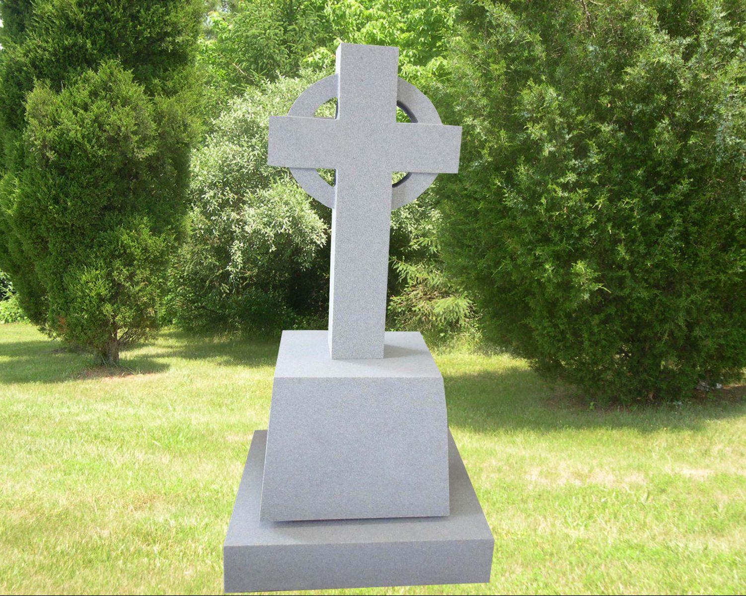 EG-12-401-905 / Fine Gray / All Steeled Simple Celtic Cross