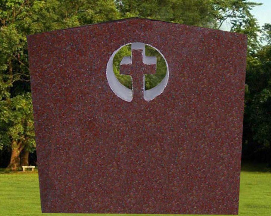EG-12-62-372 / India Red / Cut Through Cross Die