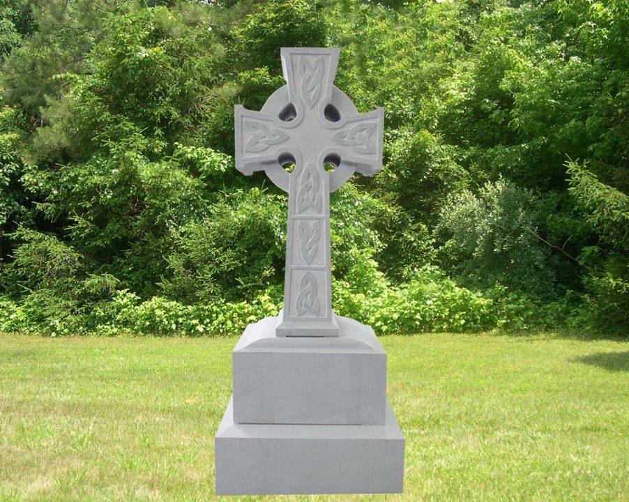 EG-12-96-902 / Fine Gray / Celtic Cross with Carving