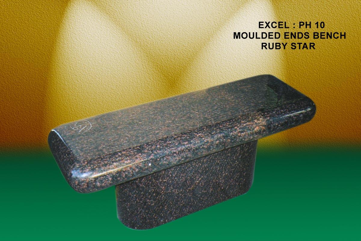 EG-10 / Cats Eye Brown / Molded Seat & Pedestal Bench
