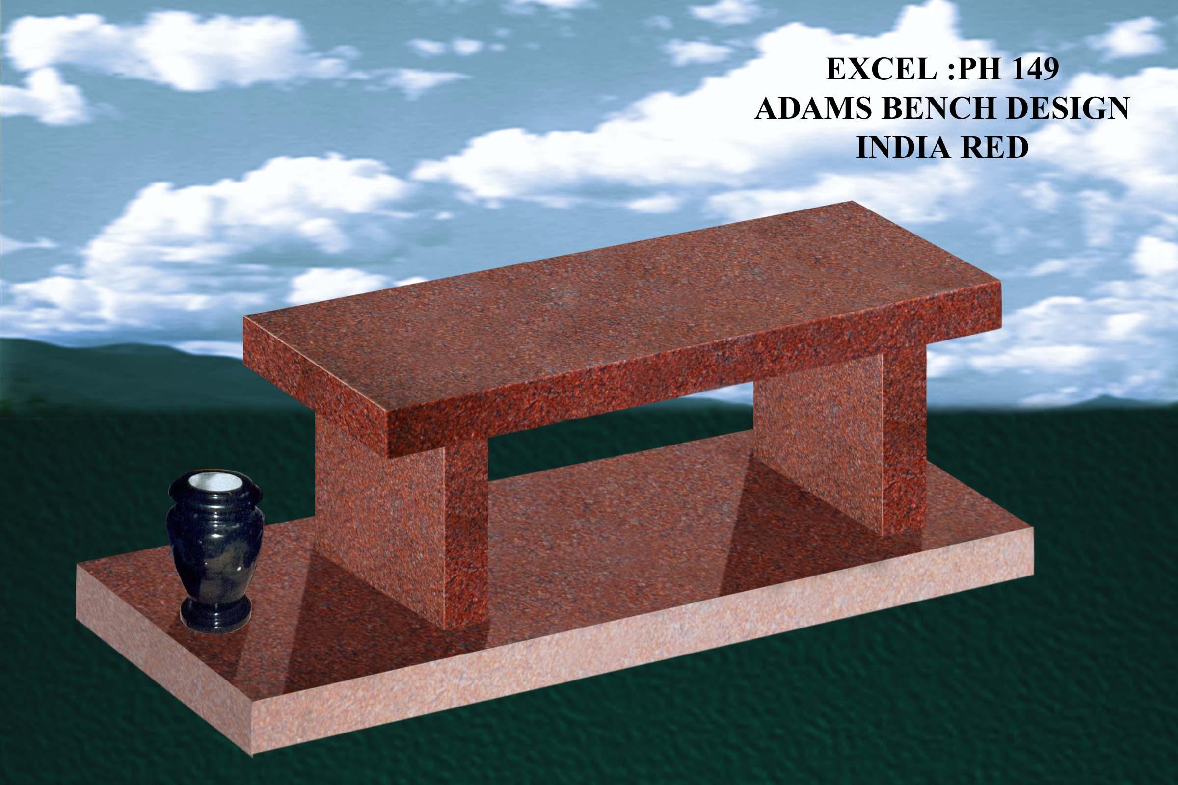 EG-149 / India Red / Straight Leg Bench