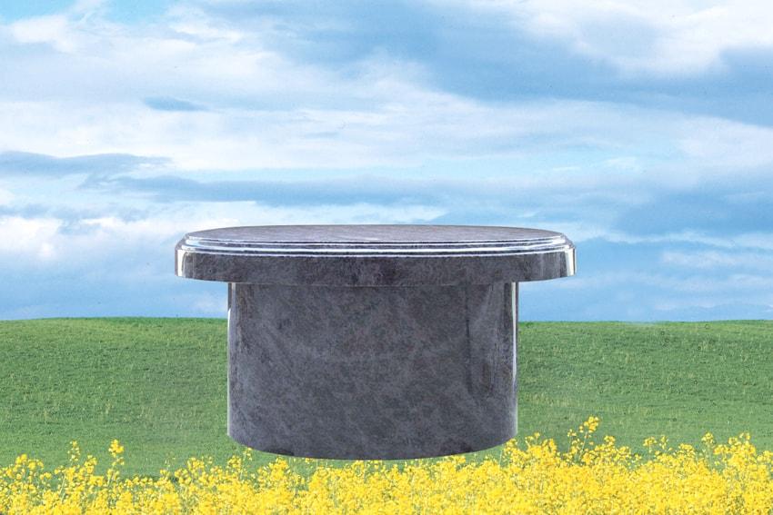 EG-4-41-25 / Bahama Blue / Oval Seat & Pedestal