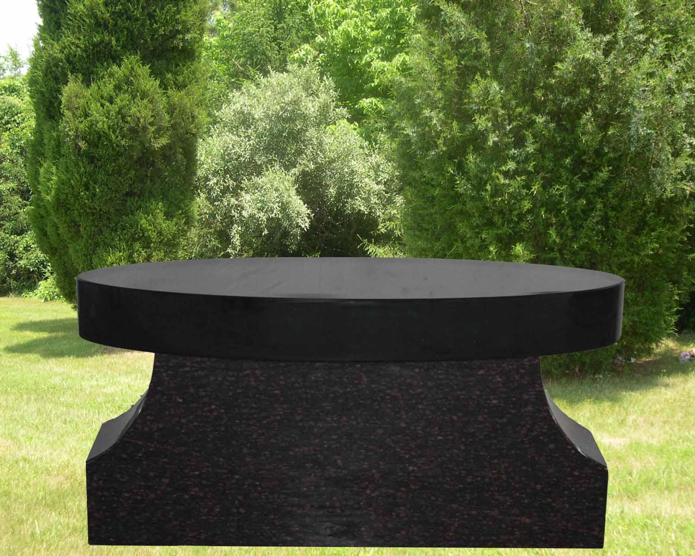 EG-13-124-388-27 / Jet Black & Cats Eye Brown Oval Seat & P4 Pedestal