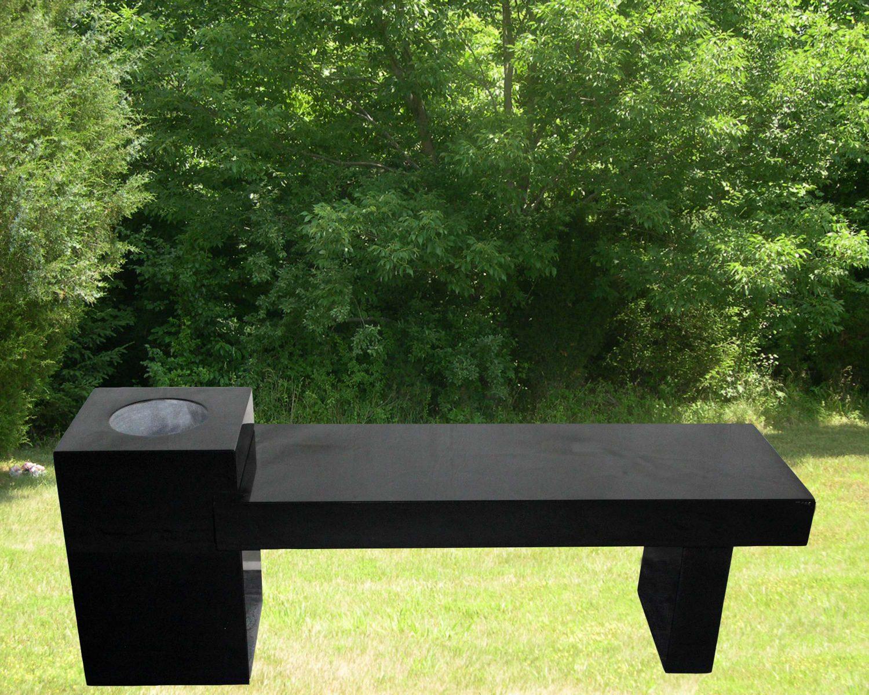EG-13-185-395 / Jet Black / Cremation Column Bench