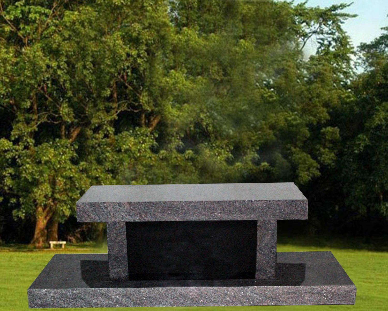 EG-13-186-395 / Paradisio & Jet Black / Panel Cremation Bench