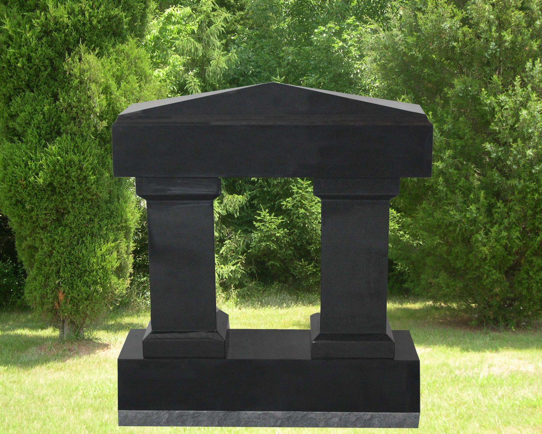 EG-16-215-426 / Jet Black / Apex Cap w/ Beveled Square Columns