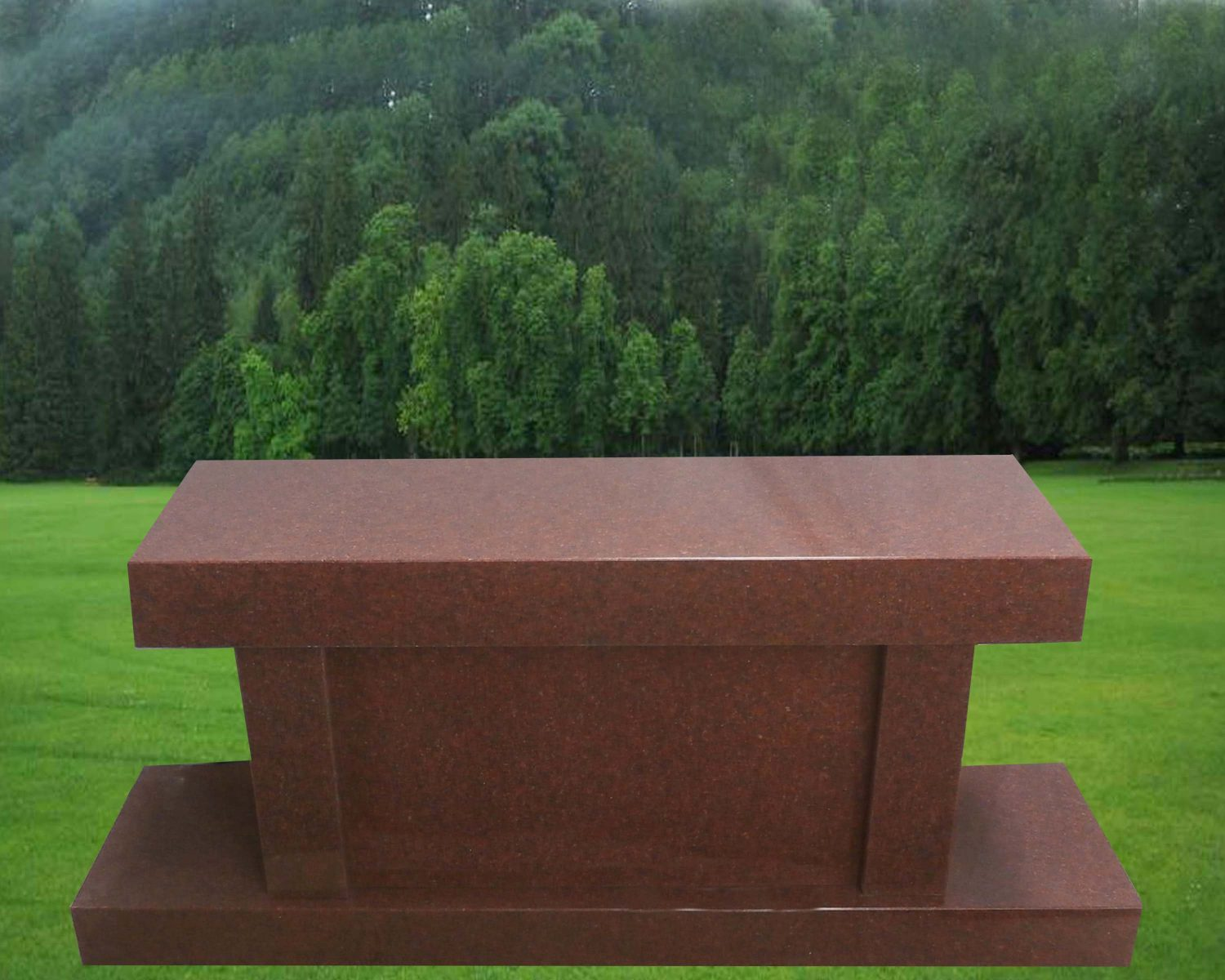 EG-18-70-202 / India Red / Panel Cremation Bench