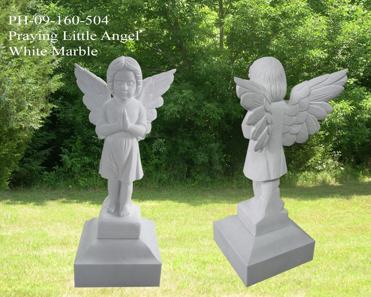 EG-09-160-504 / White Marble / Praying Little Angel