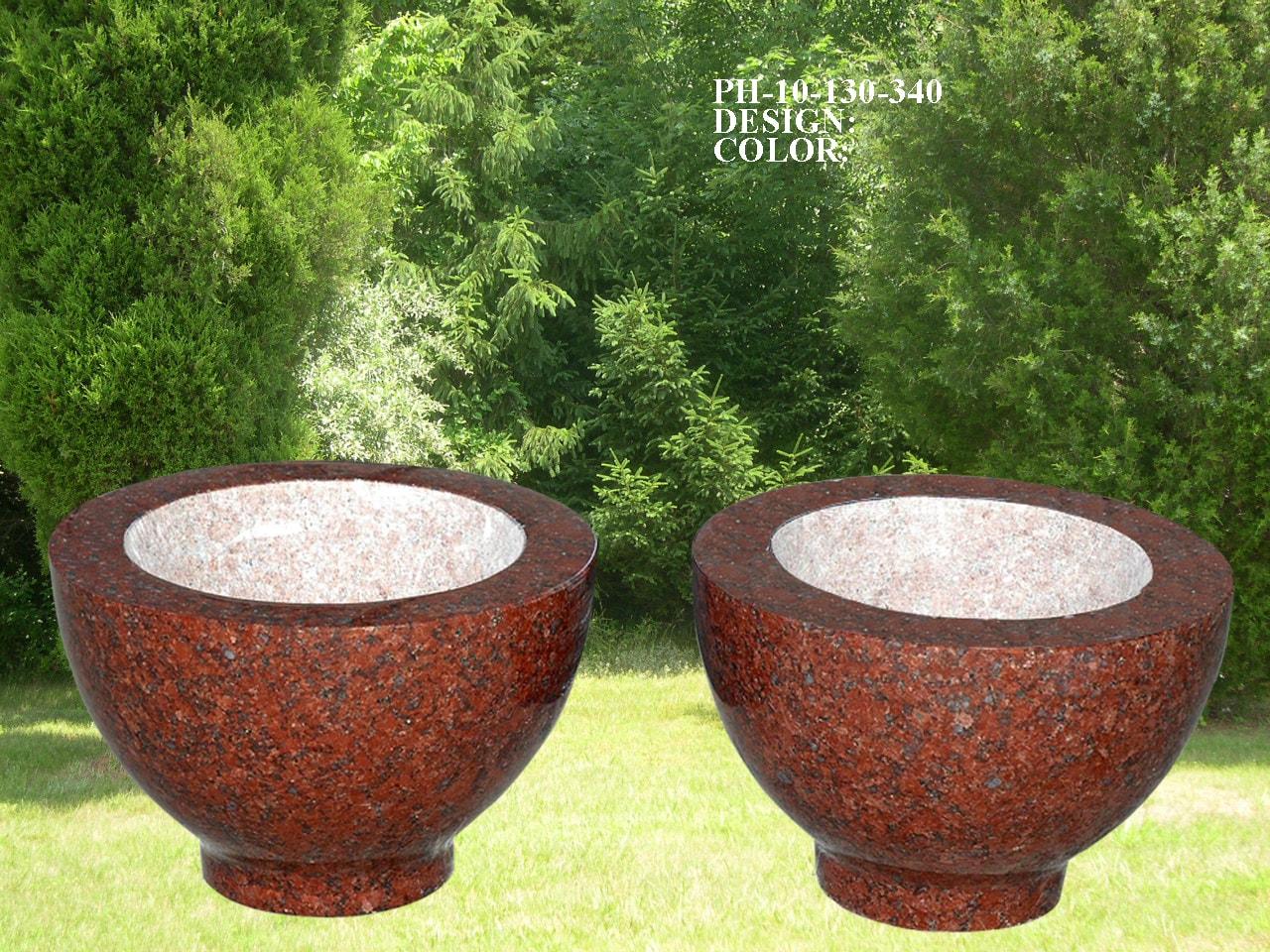 EG-10-130-340 / India Red / Bowl Vase