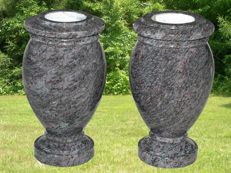 EG-10-172-344 / Bahama Blue / Round Turned Vases