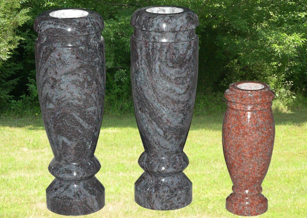 EG-10-72-336 / Blue & Red / Round Turned Vases