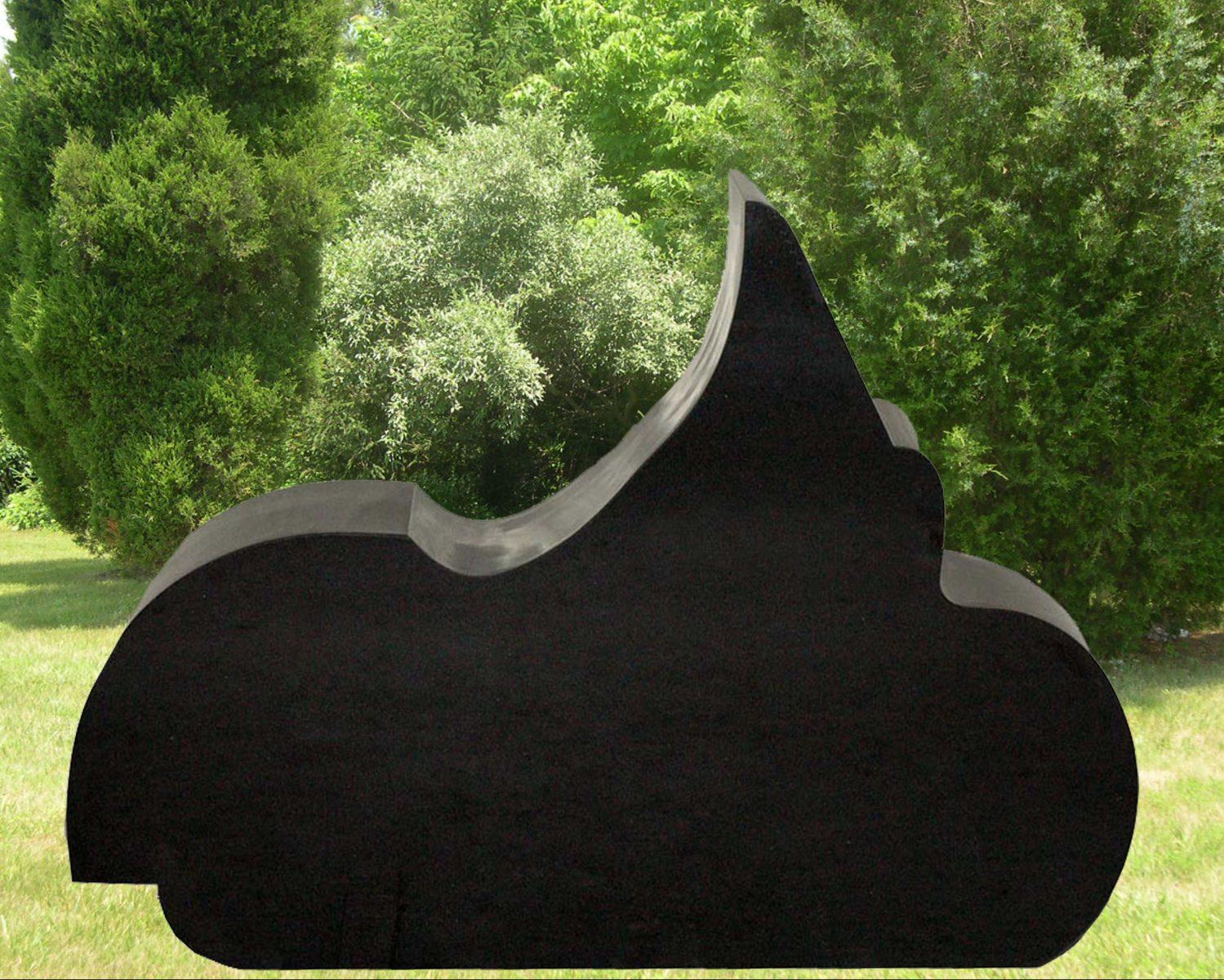 EG-12-3-351 / Jet Black / Bike Outline Memorial