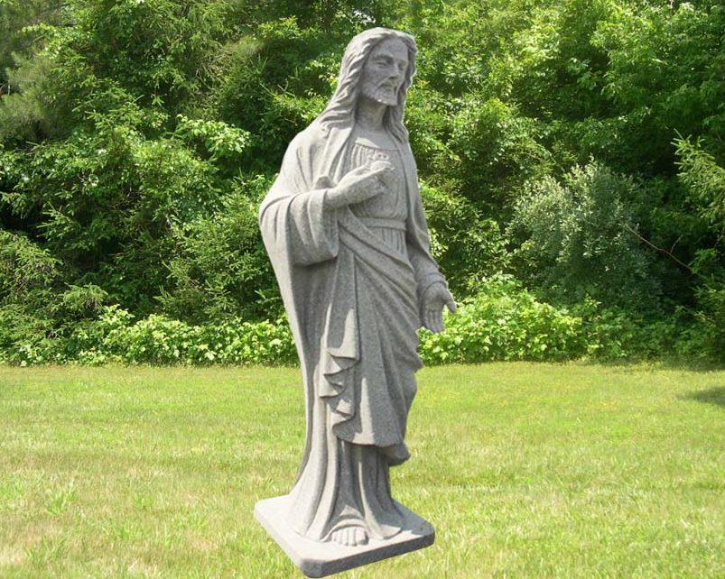 EG-12-327 / Fine Gray / Jesus Statue