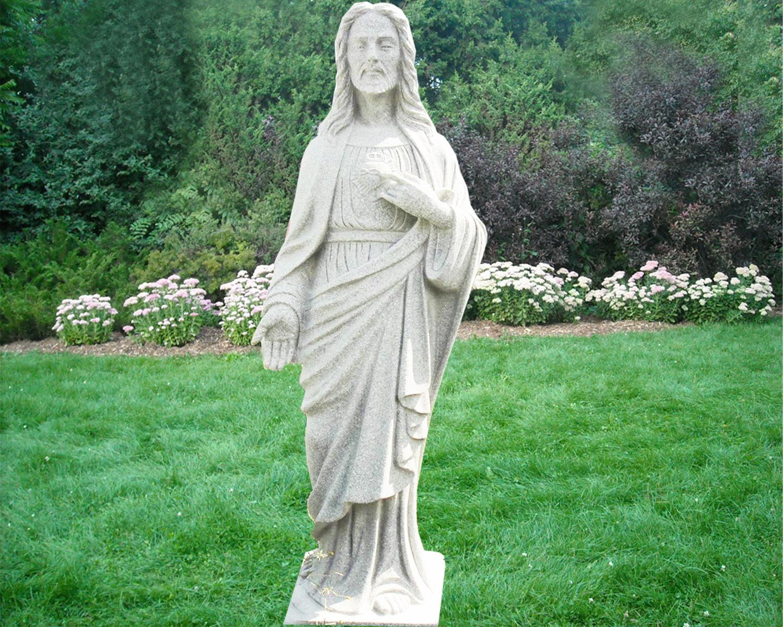 EG-12-389 / Fine Gray / Jesus Statue